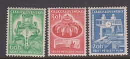 Czechoslovakia Scott 1020-1021 1961 Third Five Year Plan, Mint Never Hinged - Czechoslovakia