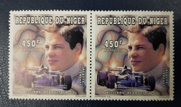 NIGER 1996 YT 887 2 X FORMULE 1 WILLIMAS RENAULTS CARS VOITURE COURSE - Niger (1960-...)