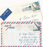 Australie: 2 Lettres Pour Le Luxembourg - 1980-89 Elizabeth II