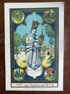 Oud         2 Delig  Bidprentje   1930    O . L . V . Van ASSEBROUCK - Images Religieuses