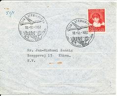 Greenland Air Mail Cover Sent To Denmark Special Postmark Jul I Grönland Sdr. Strömfjord 10-12-1962 - Greenland