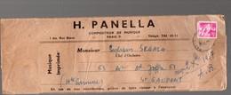 Paris 9E: Rue Bleue : Enveloppe D'expédition Partitions De Musique H PANELLA 1957  (PPP16997) - Publicités