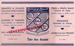 86- POITIERS- RARE BUVARD GRIMAUD BREUIL- LAINAGES SOIERIES-BAS CHAUSSETTES-CHEMISERIE-LAINES-54 RUE CARNOT - Textile & Vestimentaire