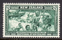 NEW ZEALAND - 1940 BRITISH SOVEREIGNTY CENTENARY MAORI ARRIVAL SHIP 1/2d STAMP FINE MINT MM * SG613 - 1907-1947 Dominion