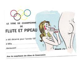 CPM ALEXANDRE - Le Titre De Championne - De Flûte Et Pipeau - Alexandre