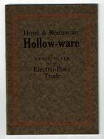 Catalogue HOLLOW-WARE Holloware Vaisselle Nickel Argent Restaurant JENKINS Birmingham 1927 Saglier Paris - Home Decoration