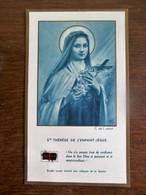 Devotie Prent Van St . THéRéSE DE L' ENFANT - JESUS Met  Relikwie - Imágenes Religiosas