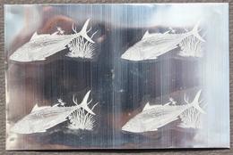 KPI-392- Indonesia 1963 Fish. EUTHYMUS ALLETERATUS AFFINIS, 1,50r (tongkol), Block 4. Piece Of Printing Plate! Rare!! - Indonesia