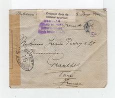 Sur Env. Franc De Port De Militaire Interné Dans Les Pays Bas CAD 1918. Ouverte Par Autorité Militaire. (1064x) - Guerre De 1914-18