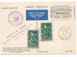 Carte Air France Algerie Alger Aéroport - Algeria (1924-1962)
