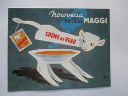 Publicité Nouveau Potage Maggi  Crème De Veau - Advertising
