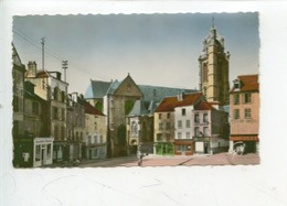 Pontoise  Place Du Grand Martroi, A Gauche, Le Clocher De L'église Saint Maclou (n°9158) - Pontoise