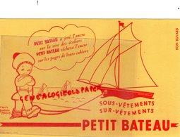 10- TROYES- BUVARD PETIT BATEAU  SOUS VETEMENTS- D' APRES BEATRICE MALLET - Textile & Vestimentaire
