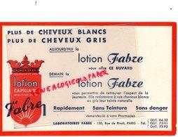 75- PARIS- BUVARD LOTION FABRE- COIFFURE CHEVEUX COIFFEUR LOTION CAPILLAIRE- 150 RUE DE RIVOLI - Parfum & Kosmetik