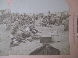 GUERRE DES BOERS -  Troupes Britanniques - Modder River - 1900  Ed. Kilburn   - TBE - Stereo-Photographie