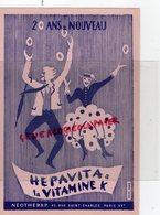 75 - PARIS - BUVARD HEPAVITA A LA VITAMINE K- NEOTHERAP 83 RUE SAINT CHARLES- PHARMACIE MEDICAMENT - Chemist's