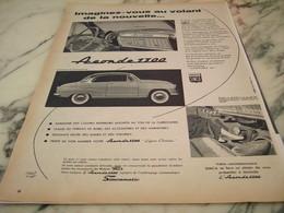ANCIENNE PUBLICITE CONFORT ARONDES 1300  1955 - Voitures