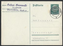 38de.Postcard. Mail 1940 Bartoszyce Bartenstein (Poland) Dresden. The Occupation Of Poland. - Germany