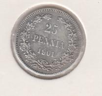 @Y@   FINLAND   25  Pennia 1901  Zilver / Ag     (2735) - Finlandia