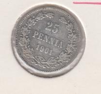 @Y@   FINLAND   25  Pennia 1901  Zilver / Ag     (2734) - Finlande
