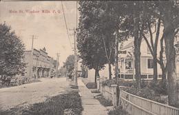 Vintage 1909 - Windsor Mills Québec - Main Street - Little Animation - Written - Excellent Condition - 2 Scans - Quebec