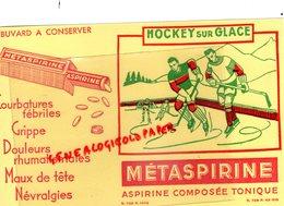 BUVARD METASPIRINE- ASPIRINE - RARE HOCKEY SUR GLACE- PHARMACIE MEDICAMENT - Chemist's
