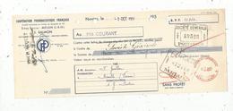 Lettre De Change, Coopération Pharmaceutique Française, Melun, J. Salmon,1951,  Frais Fr 1.55 E - Bills Of Exchange