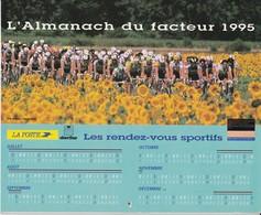 CALENDRIER ALMANACH DES PTT 1995 CYCLISME FORMULE 1 ALESI FERRARI RUGBY FOOTBALL ... - Calendriers