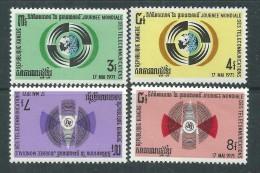 Khmère N° 274 / 77 X Journée Mondiale Des Communications, Les 4 Valeurs Trace De Charnière Sinon TB - Kampuchea