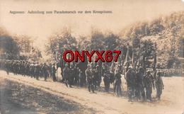 Carte Photo Militaire Allemand Argonnen-Argonne Ardennes-Meuse-Parademarsch Vor Dem Kronprinzen - Guerre 14/18 Krieg - Guerre 1914-18
