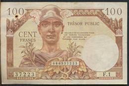 °°° FRANCE - 100 FRANCS TRESOR PUBLIC °°° - 1955-1963 Tesoro Pubblico