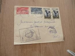 Lettre TAAF Terres Australes Françaises 18/01/1958 4 TP Terre Adélie Année Géophysique Internationale - Terres Australes Et Antarctiques Françaises (TAAF)