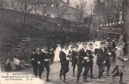 88 - Ambacourt - Confirmation Du 22 Mai 1932 - Beau Cliché De La Procession Animée - Autres Communes