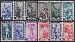 Italia Italy 1950 Lavoro Ruota 12val Sa N.634-635,637-642,644-645,647,649 Nuovi MNH/MH **/* - 1946-60: Nuovi