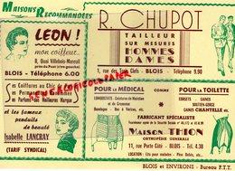 41- BLOIS-RARE BUVARD R.CHUPOT TAILLEUR-1 RUE TROIS CLEFS-MAISON THION ORTHOPEDIE RUE PORTE COTE-LEON COIFFEUR LANCRAY - Textile & Vestimentaire