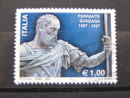 *ITALIA* USATI 2007 - 5° CENT FERRANTE GONZAGA - SASSONE 3038 - LUSSO/FIOR DI STAMPA - 6. 1946-.. Repubblica