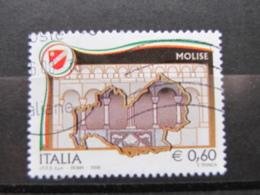 *ITALIA* USATI 2008 - REGIONI D'ITALIA MOLISE - SASSONE 3036 - LUSSO/FIOR DI STAMPA - 6. 1946-.. Repubblica