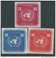 Khmère N° 293 / 95 X  25ème Anniversaire De La Com. éco. Pour L'Asie ,  Les 3 Valeurs Trace De Charnière Sinon TB - Kampuchea