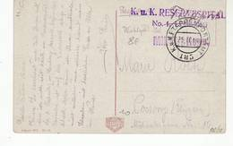 8992 OSTERREICH LWOW - UKRAINA LEOPOLI - FELDPOST KuK Reservespital N. 1 - Etappenpostam Etappenpostamt 185 Censored - Storia Postale