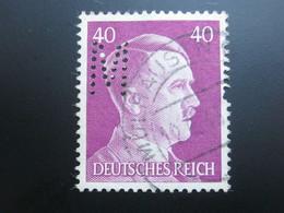 Deutsches Reich   , Firmenlochung , Perfin - Oblitérés