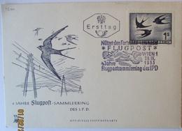 Österreich Michel Nr. 384 Schwalbe FDC Karte 1953 (46682) - 1945-.... 2. Republik