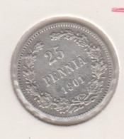 @Y@   Finland  25 Pennia   1901   Zilver   (2732) - Finnland