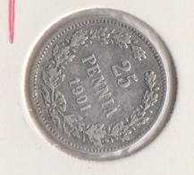 @Y@   Finland  25 Pennia   1901   Zilver   (2731) - Finnland