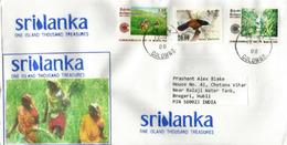 La Cueillette Du Thé, Au Sri Lanka, Belle Lettre Colombo Adressée En Inde - Boissons
