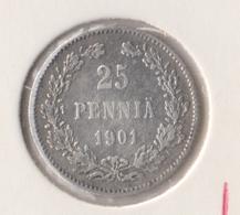 @Y@   Finland  25 Pennia   1901   Zilver   (2730) - Finlande