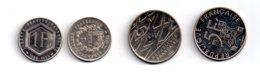 France - 4 Pièces De 1 Et 5 Francs - Non Argent-voir état - France