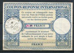 11078 FRANCE   Coupon-réponse International De 40Fr  Oblitéré à St Quentin Du 10.11.1951  TB - Autres