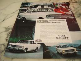 ANCIENNE PUBLICITE VOITURE OPEL KADETT 1968 - Voitures