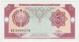 Uzbekistan P 74 - 3 Sum 1994 - UNC - Uzbekistan