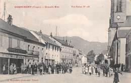 88 - Cornimont - La Grande Rue Magnifiquement Animée - ( Café De La Place - Bière De Dommartin ) - Cornimont